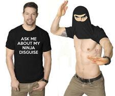 Ask Me About My Ninja Disguise Fancy T-shirt Men Funny Eyes Flip Tee Top