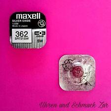 1x Maxell 362 Uhren Batterie Knopfzelle SR721SW AG11 Silberoxid Blisterware Neu