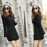 Women Winter Fashion Warm Long Coat Jacket Windbreaker Slim Outwear Parka Trench