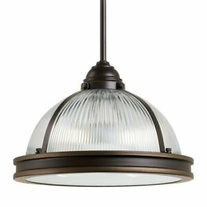 Sea Gull Lighting Pratt Street Prismatic Pendant Light 65061