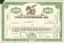 DECO =  COHU ELECTRONICS INC (USA) (H)