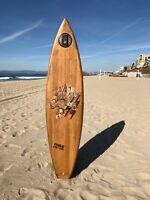 SURFBOARD WOOD WEBSTER ORIGINAL Vintage Vietnam 1st Calvary-CHARLIE DON'T SURF!