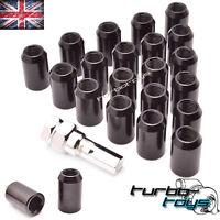 20x BLACK STEEL WHEEL TUNER NUTS M12x1.5 fit HONDA CIVIC EP3 INTEGRA DC2 DC5