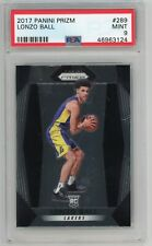 LONZO BALL 2017-18 PANINI PRIZM ROOKIE PSA 9 - LAKERS PELICANS