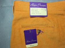 NEW ALAN FLUSSER 34 x 32 CORDUROY pants tangerine 100% cotton CLASSIC men's NWT