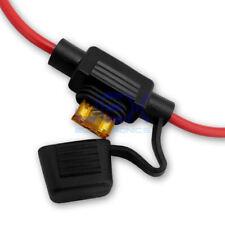 In-Line Car ATM Mini Blade Fuse Holder Waterproof 16AWG Up2 15A 12V/24V/32V 16ga