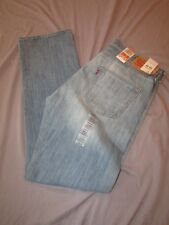 mens levi's 501 button fly jeans 34x32 nwt $59.50 light wash