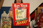 """Vintage 1950's Chesterfield Cigarettes Tobacco 18"""" Embossed Metal Sign"""
