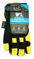 Wells Lamont HydraHyde Breathable Premium Leather Work Gloves, 2 Pack, Medium