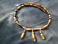 Unbehandelter Echtschmuck mit Tigerauge-Halsketten aus für Damen