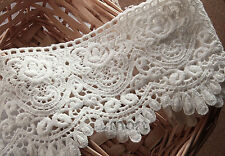1 Yard White Vintage Cotton Crochet Lace Trim Embroidery Ribbon Sewing Craft