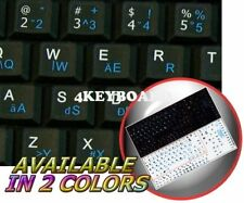 ENGLISH HUNGARIAN NETBOOK KEYBOARD STICKER BLACK