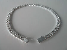 925 Silver Plated Mens/Unisex fashion Necklace/Chain Length 46cm Width 1cm. NWT
