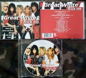 GREAT WHITE - ROCK ME BEST OF CD DISKY 1997. ONCE BITTEN TWICE SHY LED ZEPPELIN