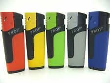 5 x Prof Neon Turbo Lighters With a Stunning Red Flame POWERFUL Refillable