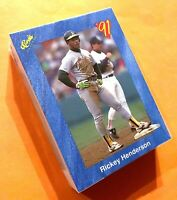 50) RICKEY HENDERSON Oakland A's 1991 Classic Blue Baseball Card #T72 LOT