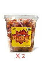 Atomic Fireballs Intense Cinnamon Candy 4.05 Pound Tub 2-Pack 480 Pieces