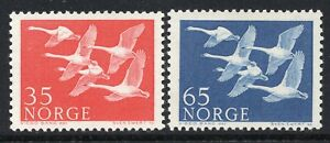 1115 - Norway1956 - Northern edition - The day of the North - Birds - MNH Set