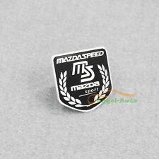 For Mazda Racing Sport Black Car Side Rear Decal Mazdaspeed Emblem Badge Sticker