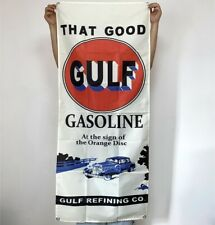 Gulf That Good Gasoline Banner Motor Oil Tapestry Flag Fabric Poster Sign 2x5 ft