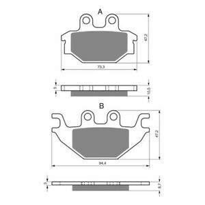 Rear Sintered Brake Pads Fit Indian 1133 SCOUT 2015 2016