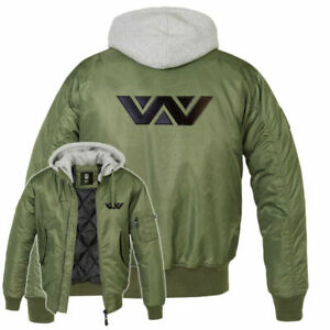 Aliens Weyland Yutani MA1 Embroidered Bomber Jacket Sulaco Nostromo Mens