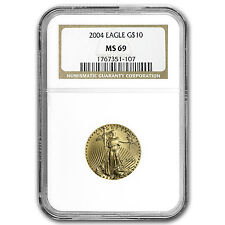 2004 1/4 oz Gold American Eagle MS-69 NGC