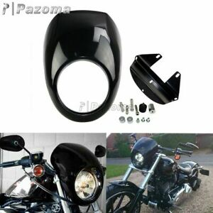Fork Headlight Fairing Cover ABS Mask Cowl For Harley Sportster XL 883 1200 Dyna