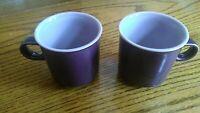 Noritake PRIMASTONE - GENUINE STONEWARE - FANTASY 8317 PURPLE CUPS WITH LAVENDE
