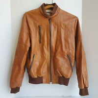 VTG The Leatherworks All American Racewear Brown Leather Jacket Sz 40 Made USA