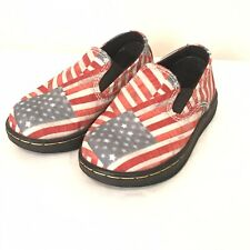 Dr. Doc Martens Kids TIMON American Flag Slip On Loafers Toddlers size us 5