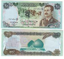 iraq irak 25 dinars saddam fds unc pick 73 lotto 1519