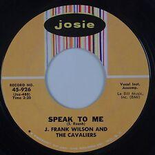 J. FRANK WILSON: Speak to Me / Hey Little One JOSIE NM Stock 45