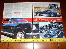 1966 FORD MUSTANG GT NITEMIST BLUE - ORIGINAL 2002 ARTICLE