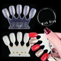 Nail Display Tool  False Nail Tips Round Shape Faux Ongles Plastic Polish