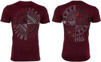 AMERICAN FIGHTER Mens T-Shirt CENTERVILLE Athletic RED BLACK Biker Gym $40