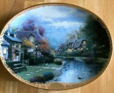 "Collector's Plate ""Lamplight Brooke"" By Thomas Kinkade Limited Edition"