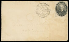 Blood's (1¢) black #15L18 on 1859 local Philadelphia cover, cat $150