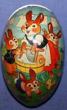 Vintage litho cardboard paper mache Easter egg box