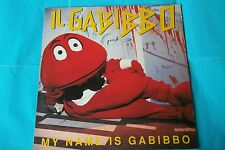 """GABIBBO """" MY NAME IS GABIBBO """" LP NERO EMI ITALIANA1991 NUOVO"""