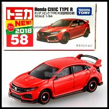 TOMICA 58 HONDA CIVIC TYPE R 1/64 TOMY 2018 JUNE NEW MODEL RED First edition