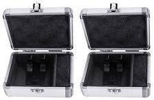 2) Odyssey KCC4PR2SL KROM PRO2 4x Turntable Needle Cartridge Travel Cases SIlver