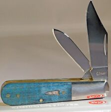 Case XX Smooth Turquoise Curly Maple Barlow Knife NEW