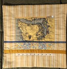 Vintage Washington State Hand-Quilted Pillow Cover