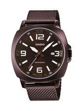 Casio Men's MTP1350DD-5A Metal Collection Quartz Brown Mesh Bracelet 44mm Watch