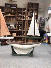 "Antique Model Ship ""Marion� No Sails"
