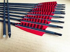 12Pcs Handmade Carbon arrows for Archery longbow recurve bow hunting&shooting