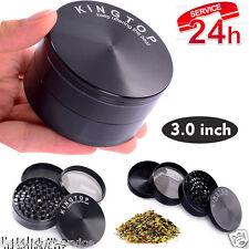 4 Piece 3 Inch Black Tobacco Herb Grinder Spice Herbal Zinc Alloy Smoke New