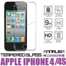 PELLICOLA VETRO TEMPERATO PER APPLE IPHONE 4 4S TEMPERED GLASS SCREEN PROTECTOR