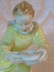 EV20-0128 Leuchtender Engel Karsruhe Majolika Keramik ab 1951 Efriede Roser 5688